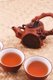 Purple sand tea set Royalty Free Stock Photography