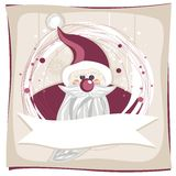 Purple Santa Claus on snowflakes Royalty Free Stock Photos