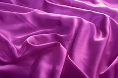 Purple satin Stock Image