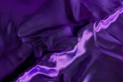 Purple satin fabrc with streak Stock Photo