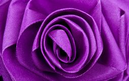 Purple Satin Rose Stock Images