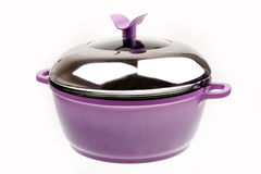 Purple saucepan  Stock Photo