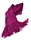 Purple Scarf. Isolated on white Royalty Free Stock Image