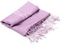Purple scarf Stock Photo