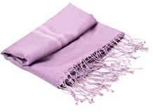 Purple scarf. Beautifull purple scarf isolated on white background Stock Photo