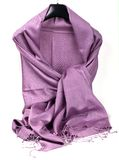 Purple scarf. Beautifull purple scarf isolated on white background Stock Image