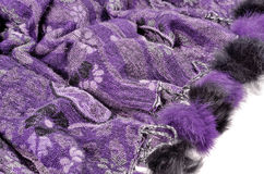 Purple scarf Royalty Free Stock Images