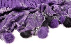 Purple scarf Stock Image