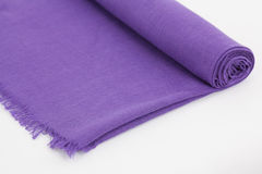 Purple scarf Stock Image