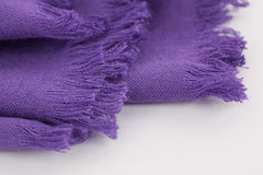 Purple scarf Stock Images