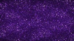 Purple schittert Deeltjesachtergrond stock illustratie