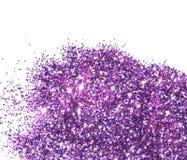 Purple schittert fonkeling op witte achtergrond Stock Afbeeldingen