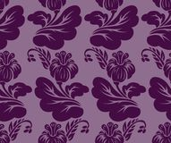 Purple seamless background Stock Photography