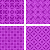 Purple seamless background set Royalty Free Stock Photos