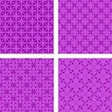 Purple seamless background set. Purple seamless curved pattern background set Royalty Free Stock Photos