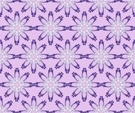 Purple seamless floral background with flower composed of fragments Stock Image