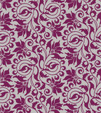 Purple seamless flower damask background Stock Images
