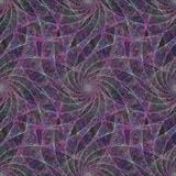 Purple seamless fractal swirling veil pattern Royalty Free Stock Image