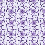 Purple seamless ornate floral background Royalty Free Stock Photo