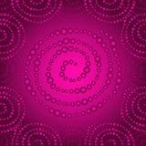 Purple seamless pattern with gradient dots spirals Stock Photo