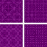 Purple seamless pattern wallpaper set Stock Photo