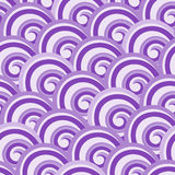 Purple seamless swirl pattern Royalty Free Stock Image