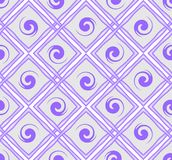 Purple seamless tile with rhombus pattern Royalty Free Stock Images