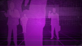 Purple seamlessly loopable background with business people stock footage