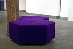 Purple seat Royalty Free Stock Photos