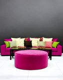 Purple settee Stock Photography