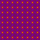 Purple Seventies Pattern Royalty Free Stock Photography