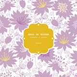 Purple shadow florals frame seamless pattern Stock Photo