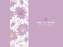 Purple shadow florals horizontal seamless pattern Stock Photos