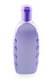 Purple shampoo bottle. Isolated on white background stock photos