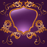 Purple shaped shield Stock Photography