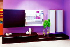 Purple shelf 2 Stock Image
