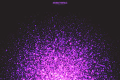 Purple Shimmer Glowing Round Particles Vector Background stock illustration