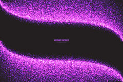 Purple Shimmer Glowing Round Particles Vector Background Stock Photo