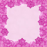 Purple Shiny Floral Frame. Stock Images