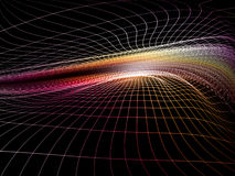 Purple Shockwave Grid Stock Photography