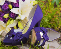 Purple Shoes Stock Photo