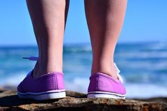 Purple shoes Royalty Free Stock Image