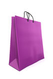 Purple shopping bag Royalty Free Stock Photo