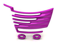 Purple shopping cart icon Royalty Free Stock Photos