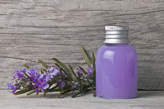 Purple shower gel. Stock Images