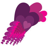 Purple Showers of Love Royalty Free Stock Photo