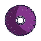 Purple silhouette figure flower icon floral Stock Photos