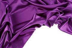 Purple silk Stock Images