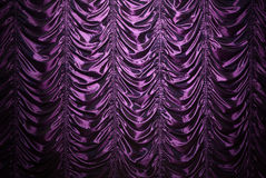 Purple silk curtain Royalty Free Stock Photography