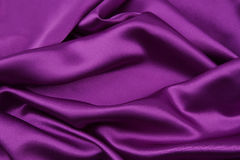 Purple silk fabric Royalty Free Stock Images